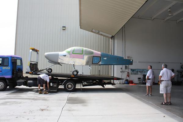 At the hangar!